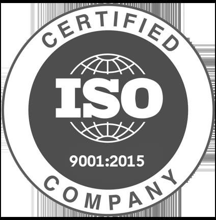 9001 certificate badge